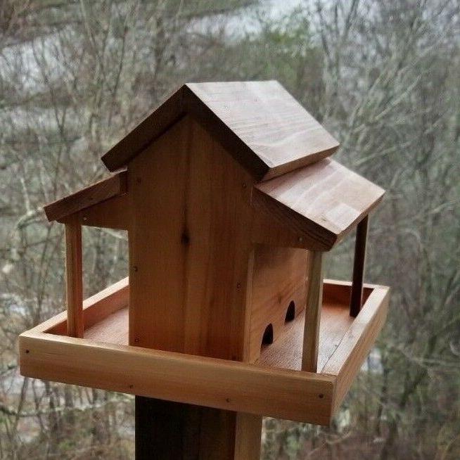 small old barn bird feeder solid cedar