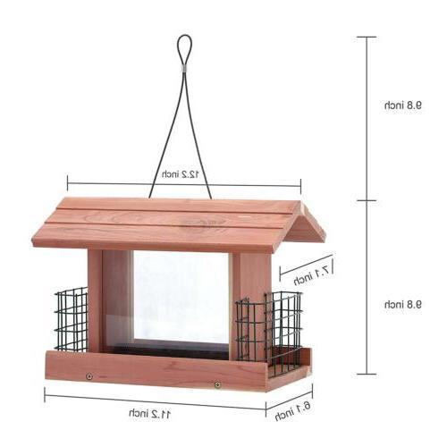 Songbird Essentials Handmade Cedar Outdoor Tree Hanging Patio