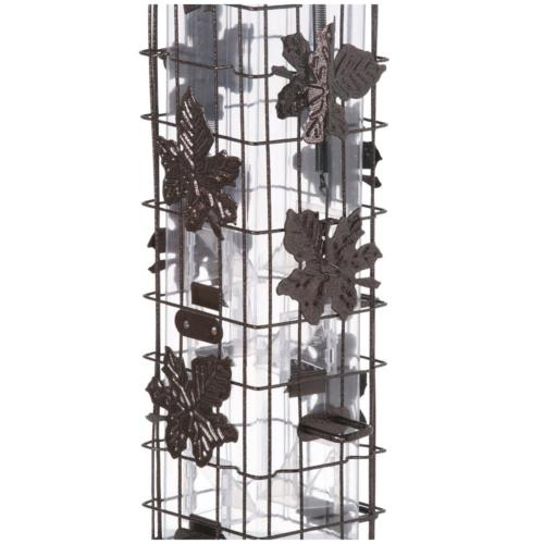 Squirrel Bird Feeder Seed Tower Container Yard Hanging