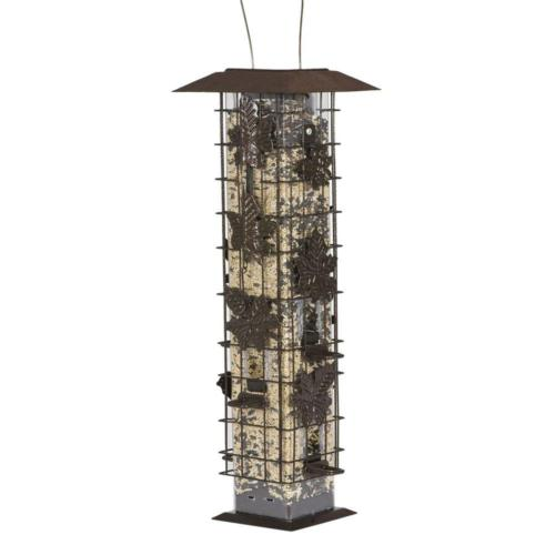 squirrel proof bird feeder seed food tower