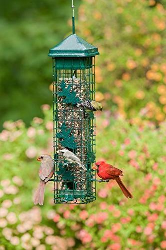 """Squirrel 5.5""""x5.5""""x30"""" Bird Feeder with 6 Feeding Capacity,"""