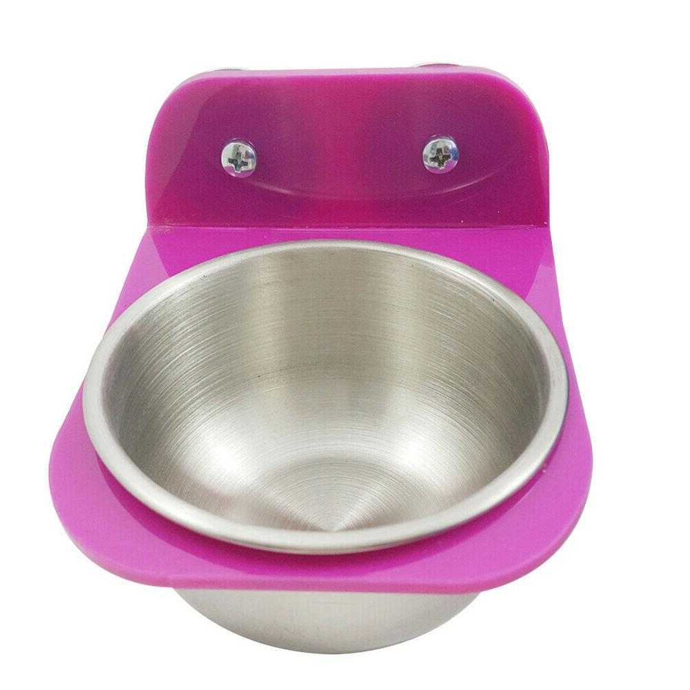 FA- Stainless Steel Food Water Feeding Bowl Cup Bird Parrot
