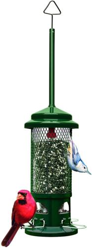 Standard Squirrel Proof Bird Feeder Metal Perches Garden Bac