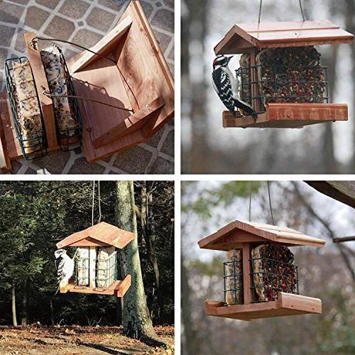 Homes Wild Bird Feeder Double Suet Woodpecker Sparrow #G-8471