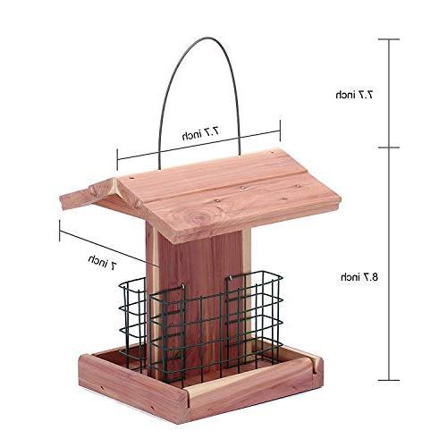 Homes Suet Wild Bird Feeder Cedar Double Woodpecker Products #G-8471
