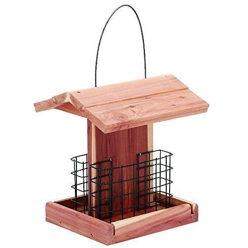 suet wild bird feeder cedar