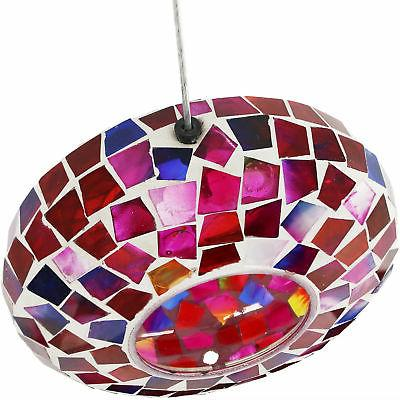 Sunnydaze Bird Feeder Crimson Mosaic Design
