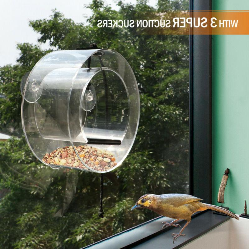 waterproof gazebo hanging wild bird feeder suction