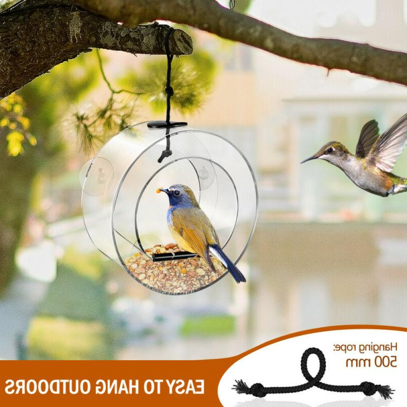 Waterproof Gazebo Hanging Bird Outdoor Feeding Garden Decor