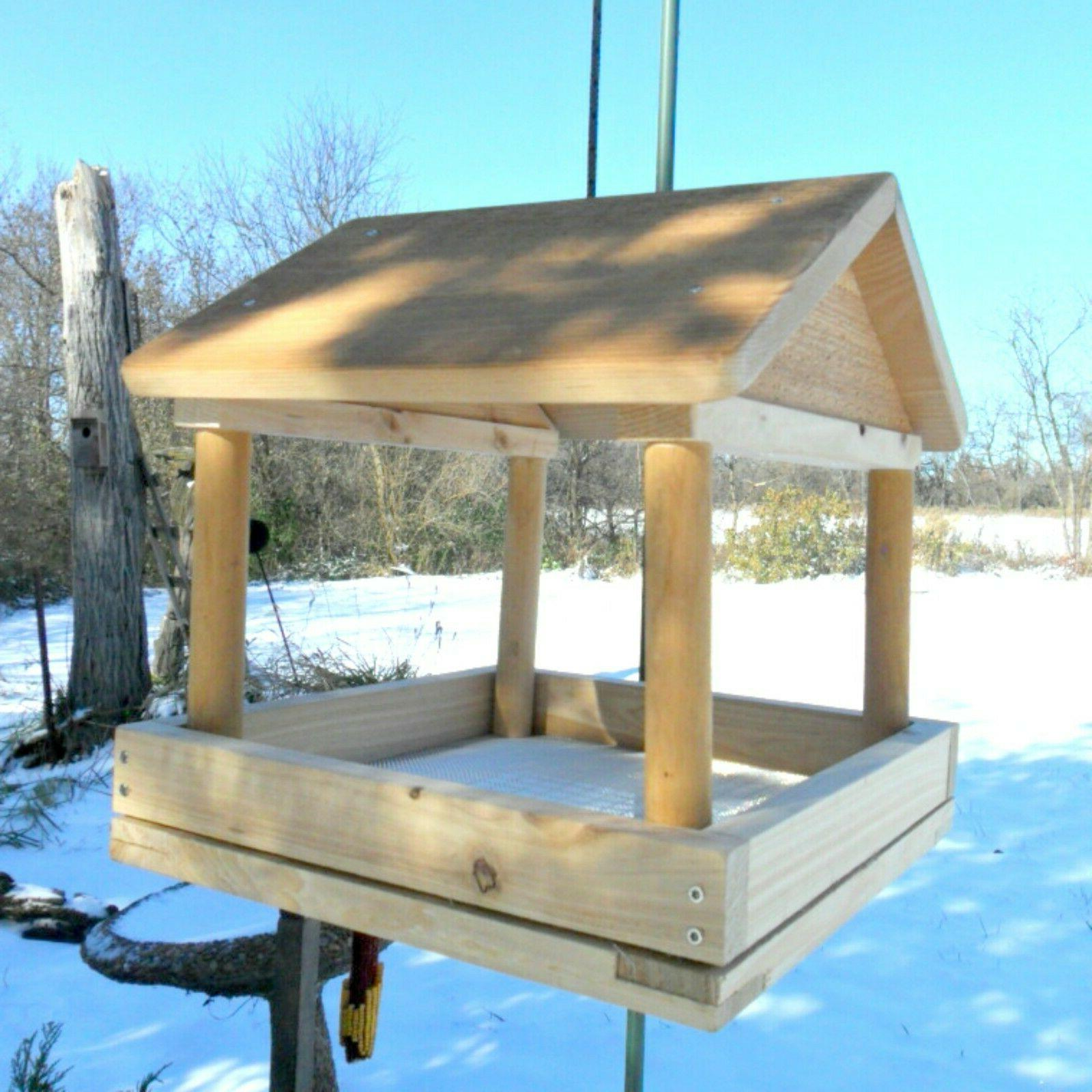 Handcrafted Bird Feeder, Large Hanging