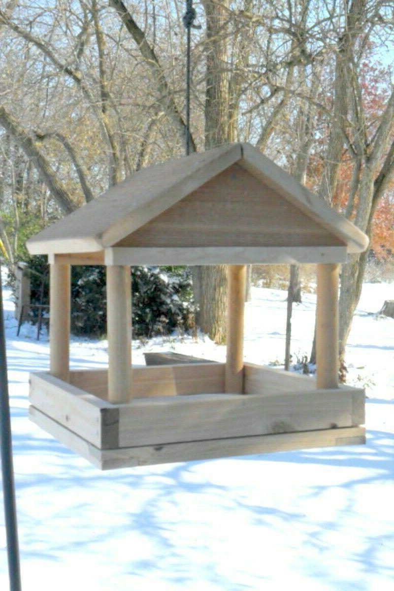 tray bird feeder large wood platform feeders