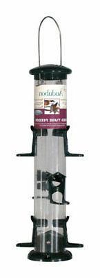 Audubon NATUBE12 6-Ports Wild Bird Plastic Tube Bird Feeder