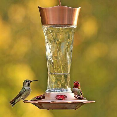 twist glass hummingbird feeder 791