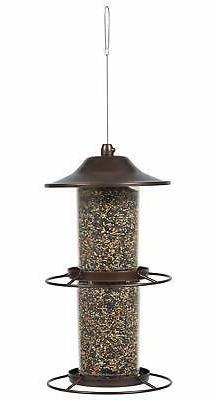 Two Level Bird Feeder Outdoor Garden Proof