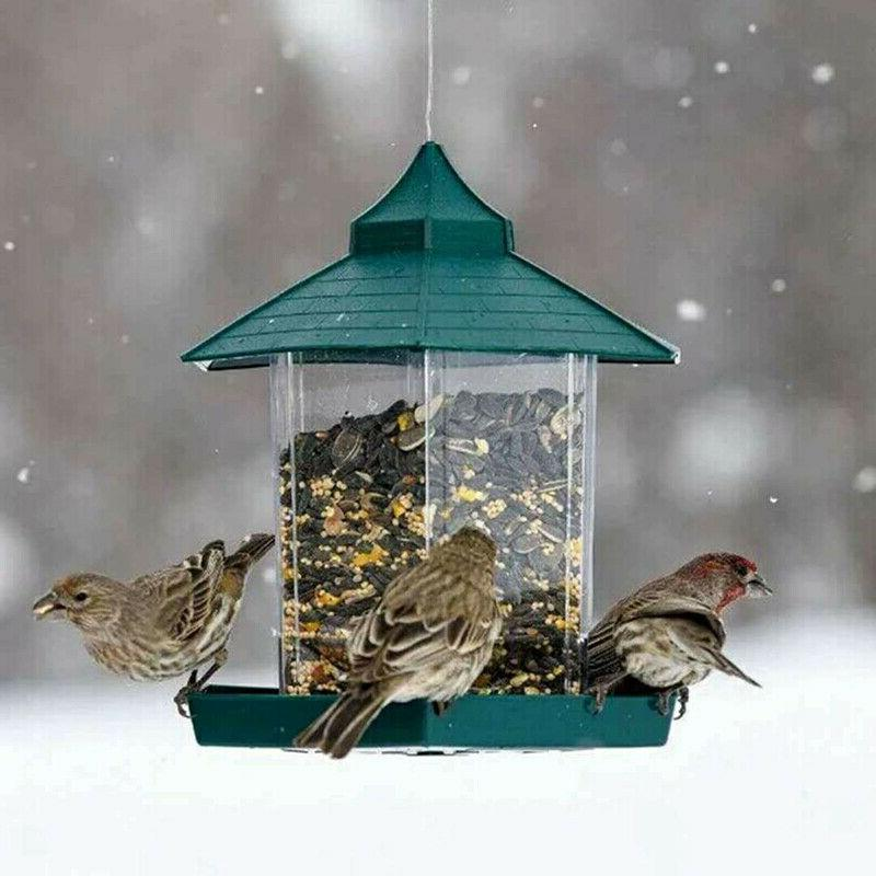 US Waterproof Bird Feeder Feeding For Gazebo Garden