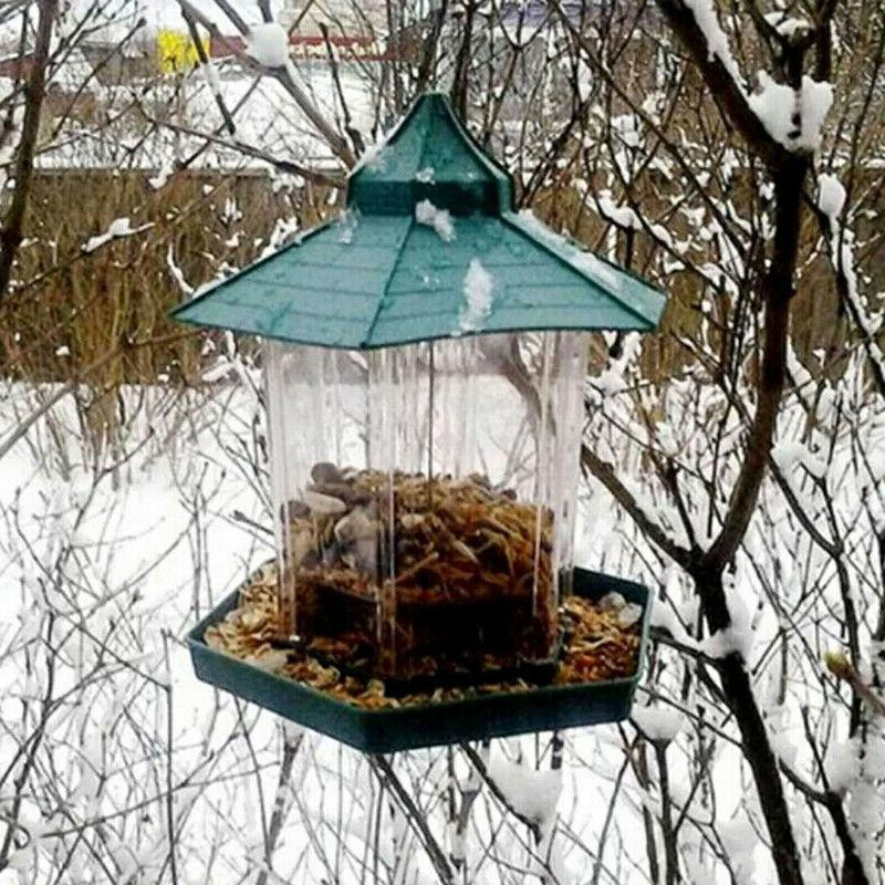 US Waterproof Hanging Bird Feeder For Gazebo Garden