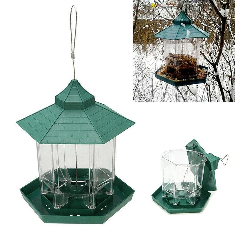 us waterproof hanging wild bird feeder outdoor