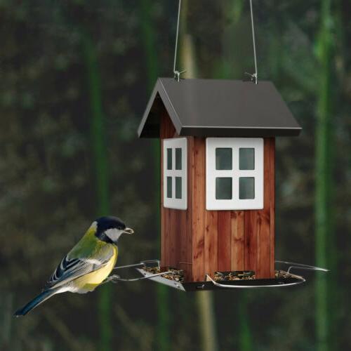 KINGSYARD Vintage Bird Full Hanging Seed Feeders