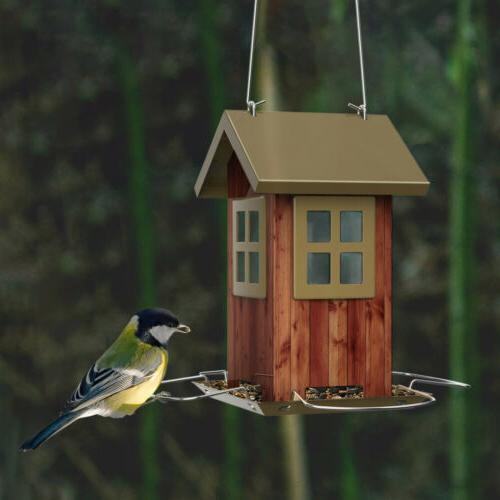KINGSYARD Bird Full Metal Seed Birdhouse