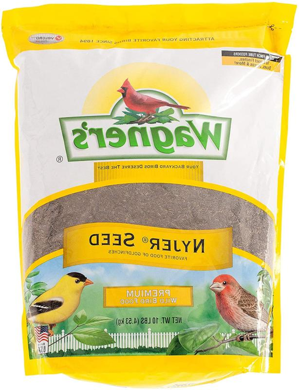 Wagners Nyjer Thistle Seed Bird Feeder Food, 10 lb Bag, Gold