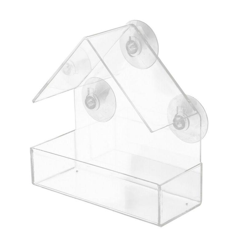 Window Bird House Feeder Holder and 3 Extra Strong Suction C