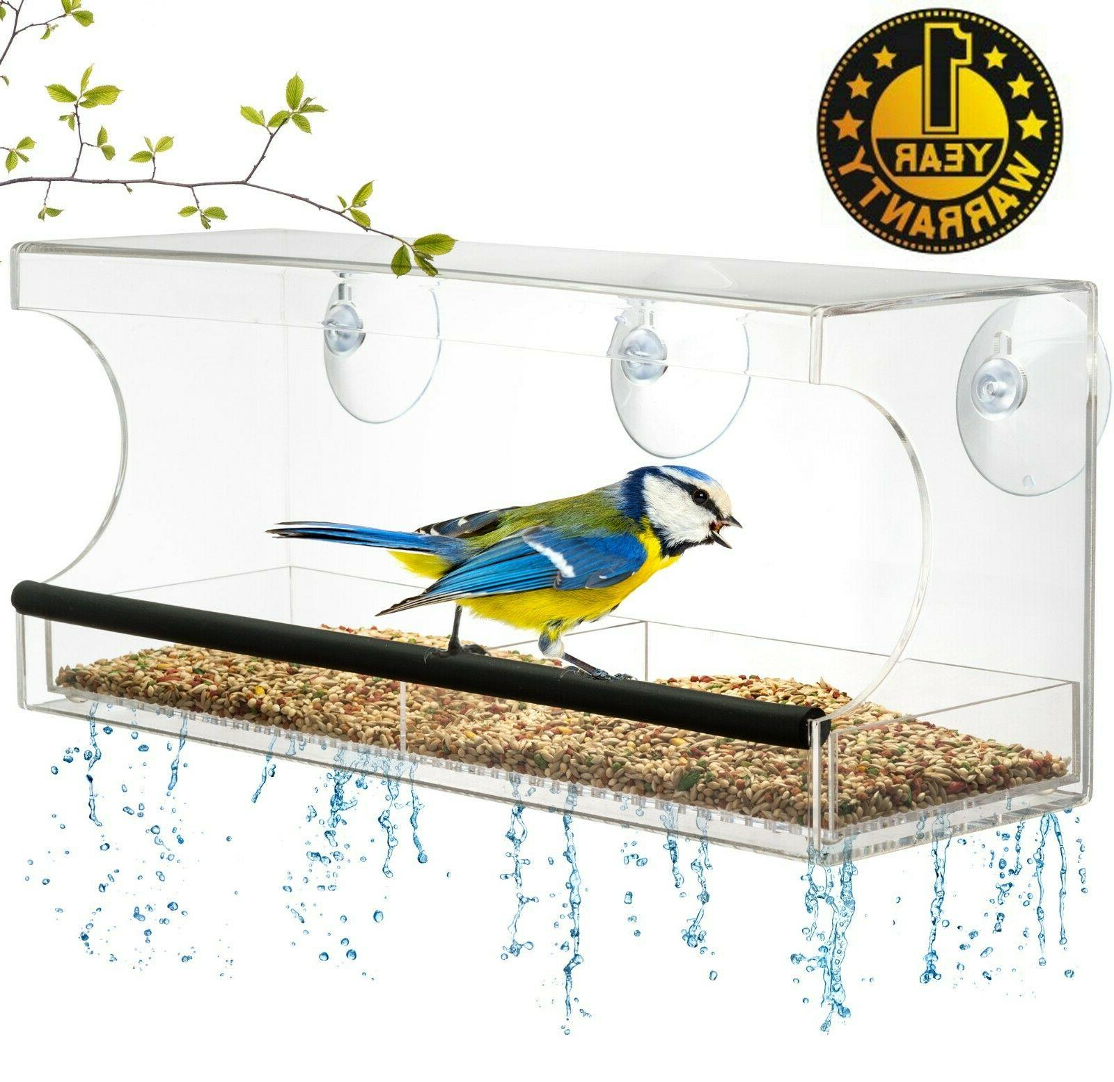 window bird feeder extra strong suction cups