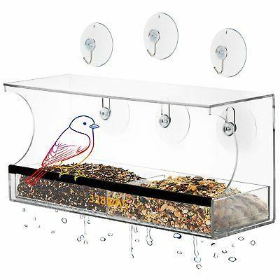 window bird feeder for outside clear acrylic