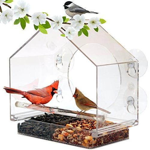 window bird feeder gift includes