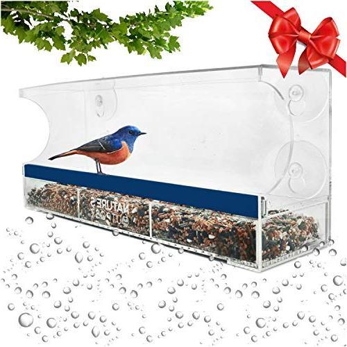 window bird feeder one way