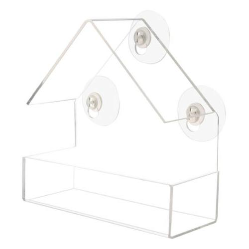 Window Bird Feeder Table Suction Clear Viewing Seed RU