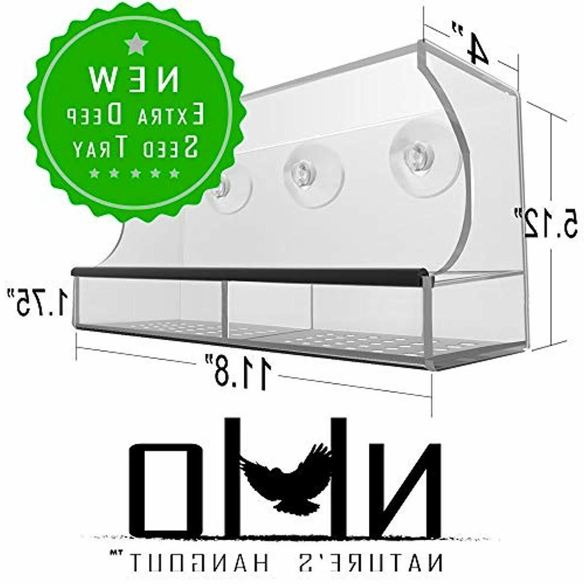 window bird feeder with strong suction cups