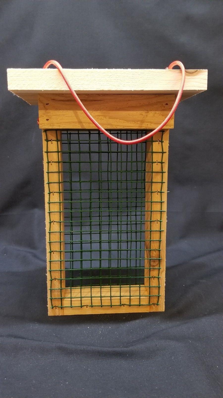 wood cedar double suet cake hanging bird