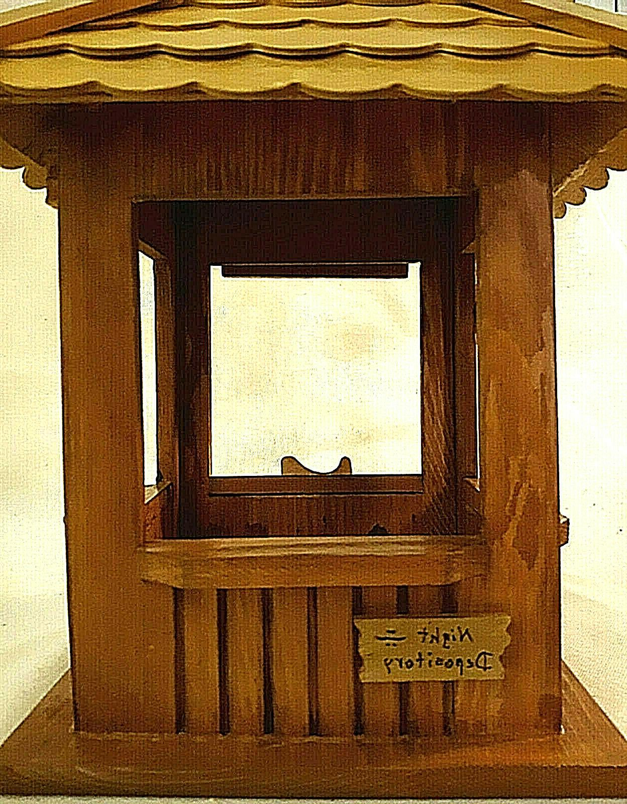 "Wood Gazebo Feeder ""First Birdie Bank"""