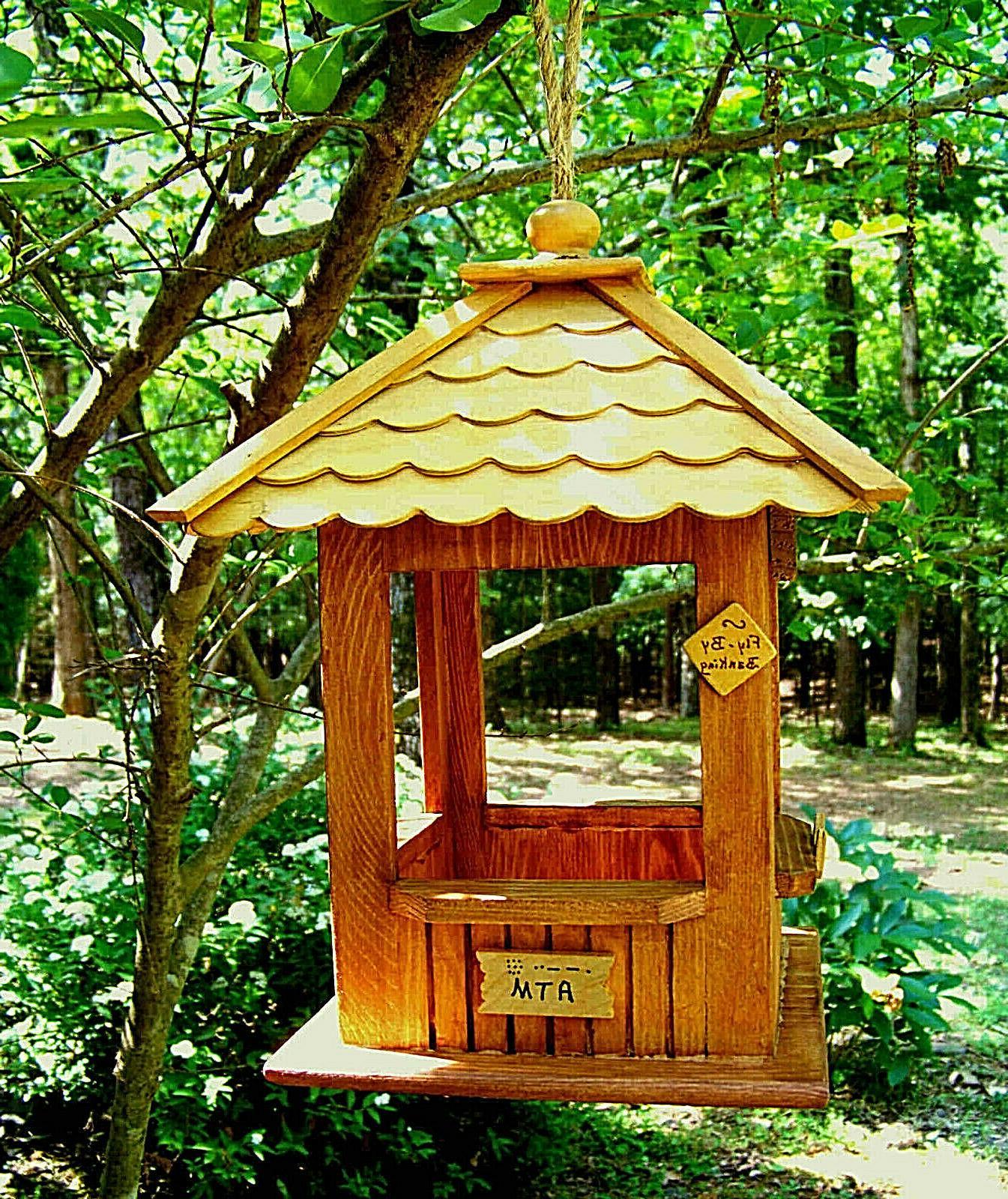 wood hanging gazebo bird feeder first birdie
