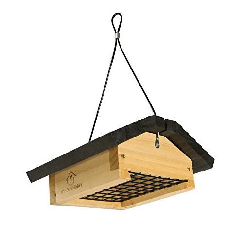 wood upside down suet bird