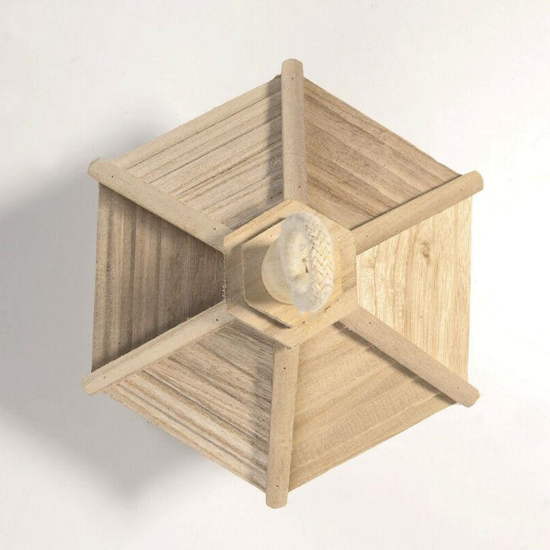 Wooden Hexagon Shaped With for Garden P