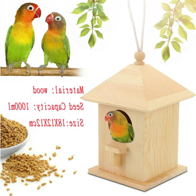 Wooden Seed Catcher Bird Seed for Hanging Mount Feeders
