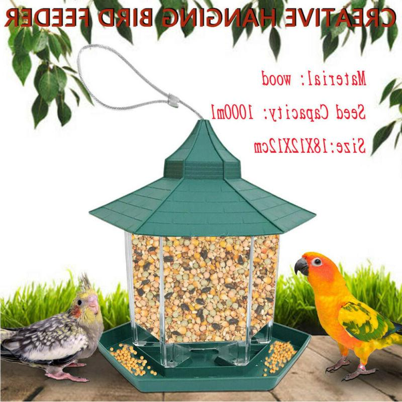 Wooden Catcher Bird Seed for or Mount