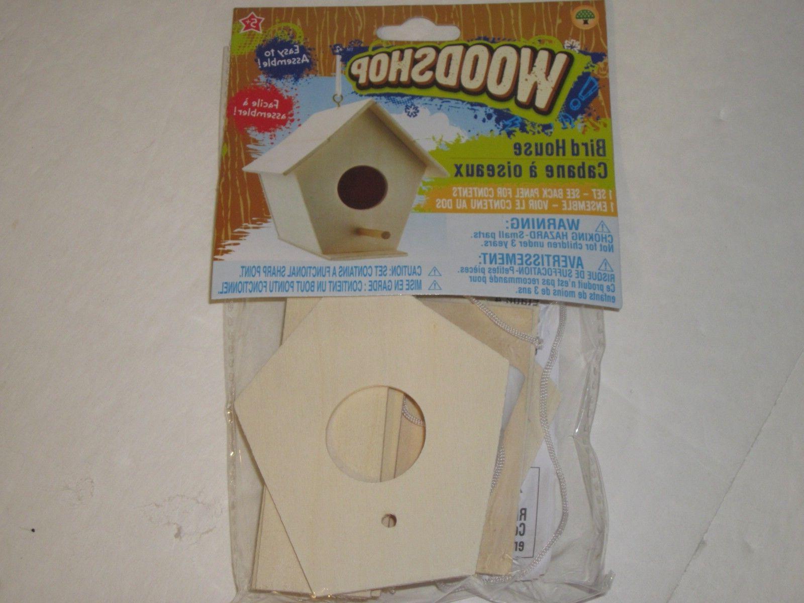 Wooden Birdhouse Bird Feeder Kit Build A Real or Bird