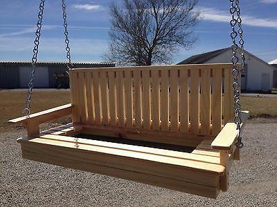 Wooden Porch Swing Bird Feeder