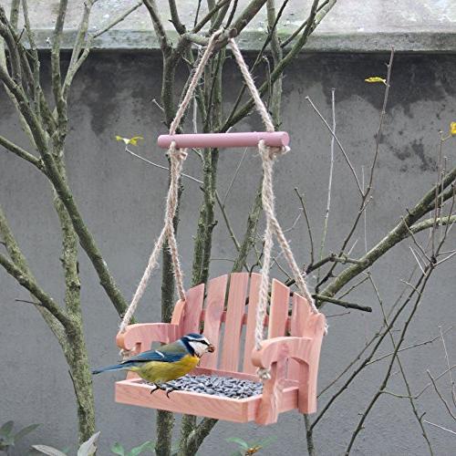 Gardirect Wooden Seat Bird Feeder
