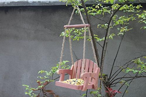 Gardirect Wooden Seat Bird Feeder,
