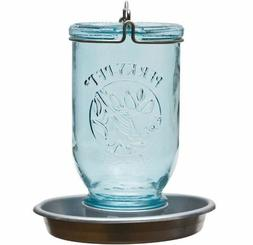 Perky-Pet Mason Jar Wild Bird Waterer 783, Blue