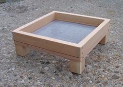 **SALE**  15% Off **  Medium Cedar Ground Platform Bird Feed