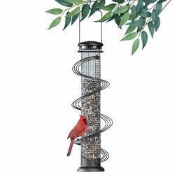 Metal Wild Bird Feeder Squirrel Proof Garden Hanging Seed Ou