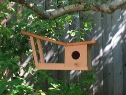 Mid Century Modern Eichler Birdhouse / Bird Feeder