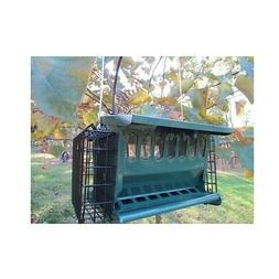 Mini Seeds N More Hopper Feeder by Heritage Farms with 2 sue