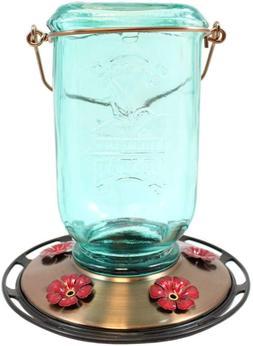 More Birds Mason Jar Hummingbird Feeder, Glass Bottle, 5 Fee