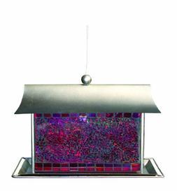 Gardman Mosaic Glass Hopper House Seed Feeder