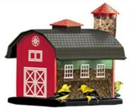 Woodlink NA6290 Audubon Barn Combo Wild Bird Feeder, Red